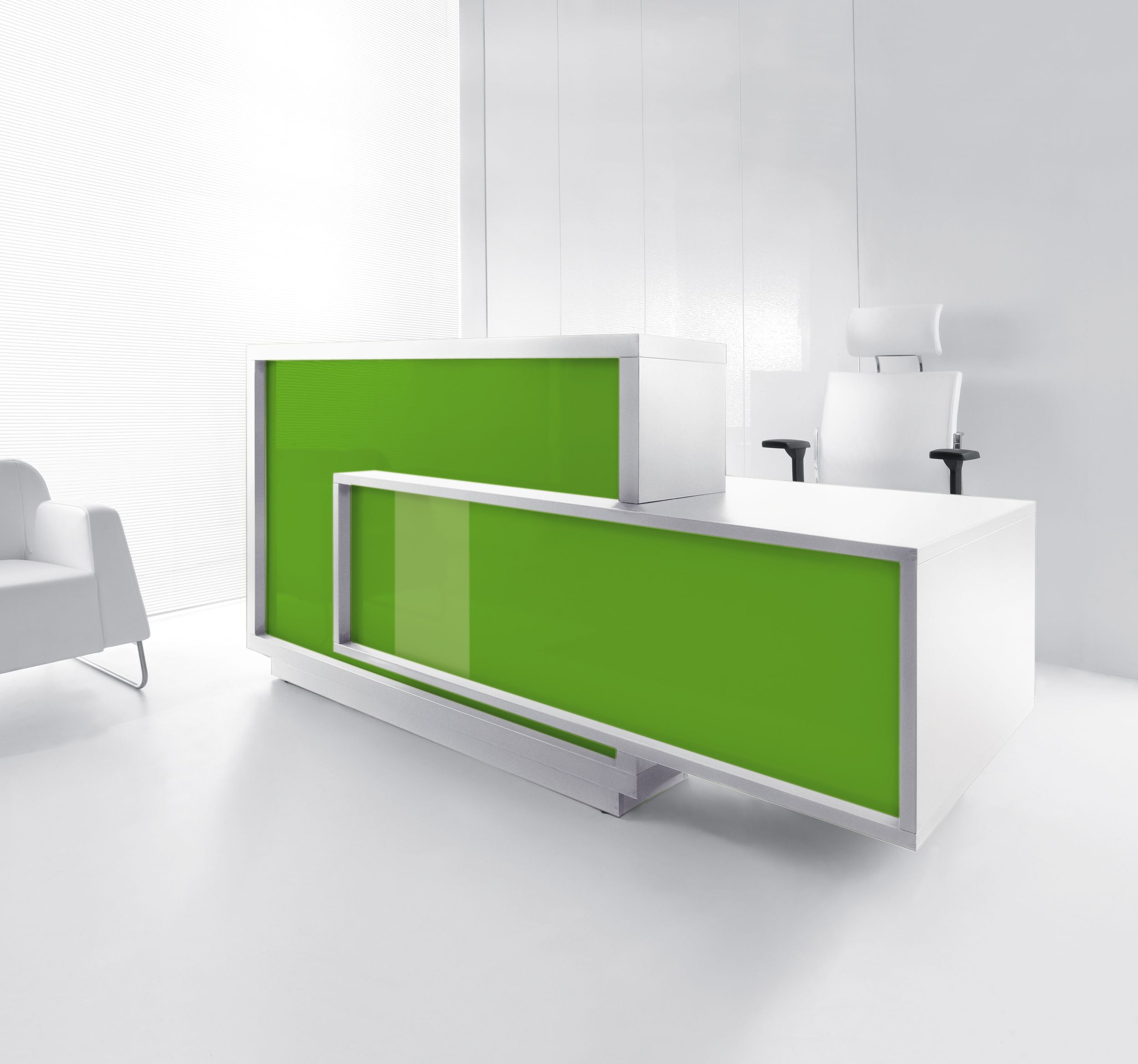 Foro Reception Desk Gloss Green