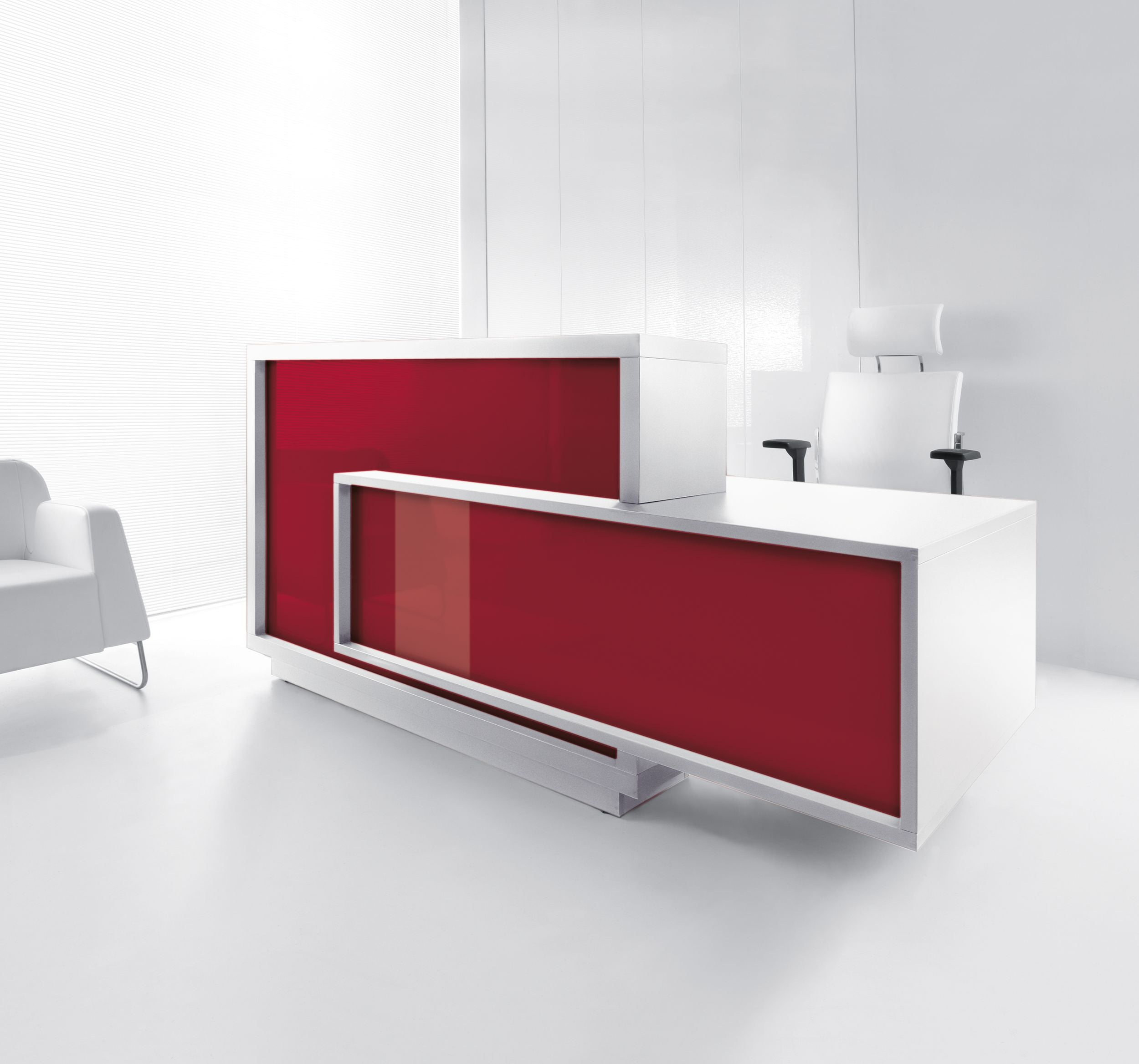 Foro Reception Desk Red