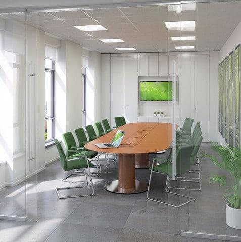 Fulcrum-Cherry-Veneer-D-End-Column-Base-Conference-Table-Cable-Management-Tiles
