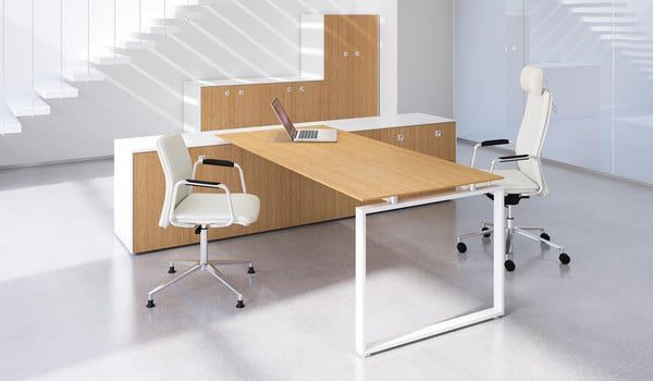 Fulcrum CE Desk with Attached Storage