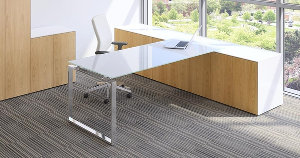 Fulcrum-CE-Modern-Executive-Desk-White-Gloss-Rectangular-Top-Chrome-Frame