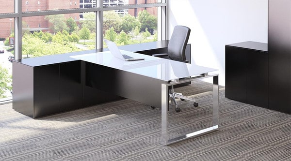 Fulcrum-CE-Dark-Wood-Executive-Desk-Chrome-Frame-Glass-Top