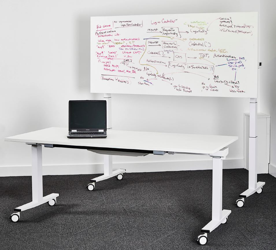 GC1-Flip-Top-Height-Adjustable-Table-Used-as-Desk-and-White-Board