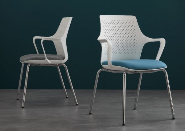 GC7 Conference Chairs Four Leg Base White Shell
