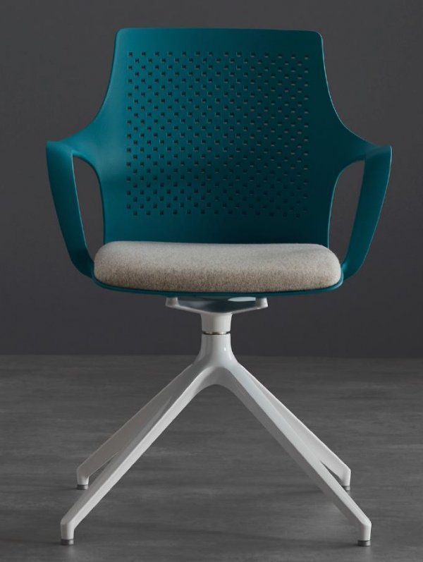 GC7 Pyramid Base Teal Shell Conference Chair