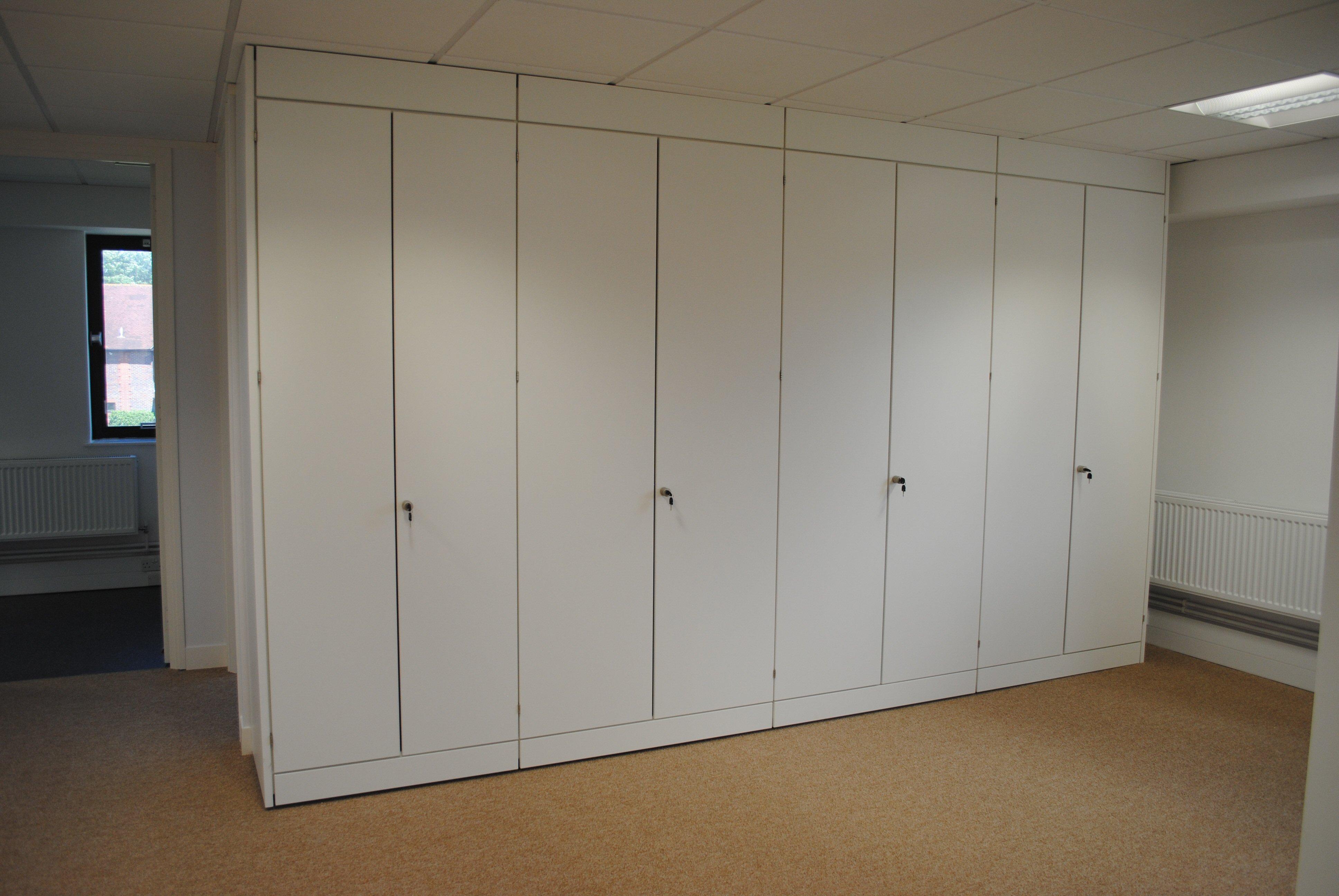 White Storage Wall