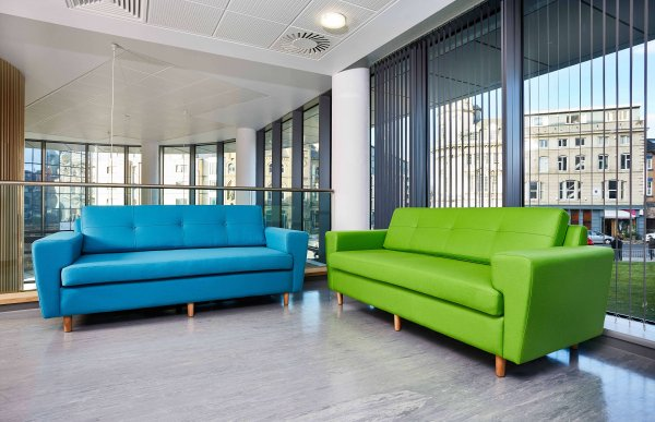 Bright-Green-Blue-Sofas-Office