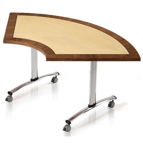 Gemini-Modular-Veneer-Meeting-Table-Semi-Circular-Top-Castor-Base