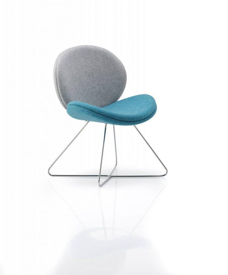 Giggle CrossOver Skid Frame Blue Grey Upholstery