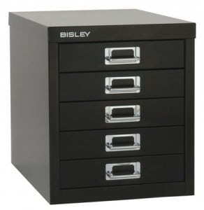 Bisley-MultiDrawers-Desk-Storage-Black