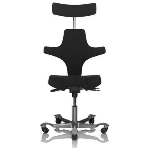 HAG Capisco Black Ergonomic Office Chair With Headrest
