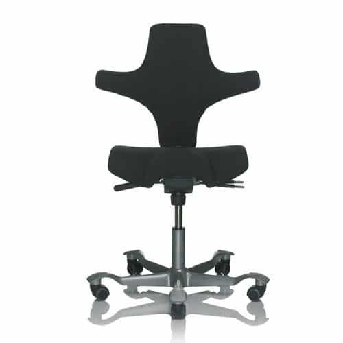 HAG-Capisco-Black-Ergonomic-Office-Chair-Front-View