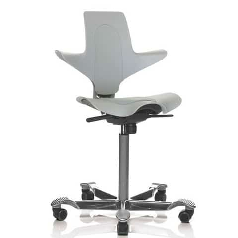 HAG-Capisco-Puls-Ergonomic-Task-Chair-Grey