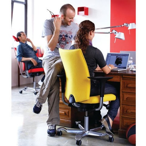 HAG-HO5-Ergonomic-Office-Chair-Without-Headrest-Yellow