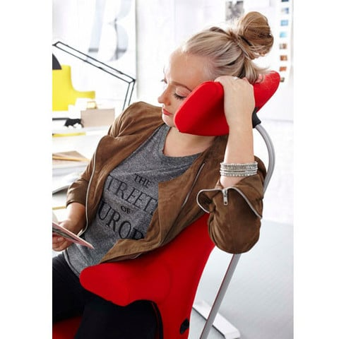 Woman-Sitting-In-HAG-Capisco-Office-Chair-Using-Headrest