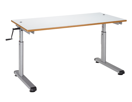 Height Adjustable Student Desk Manual Crank Handle