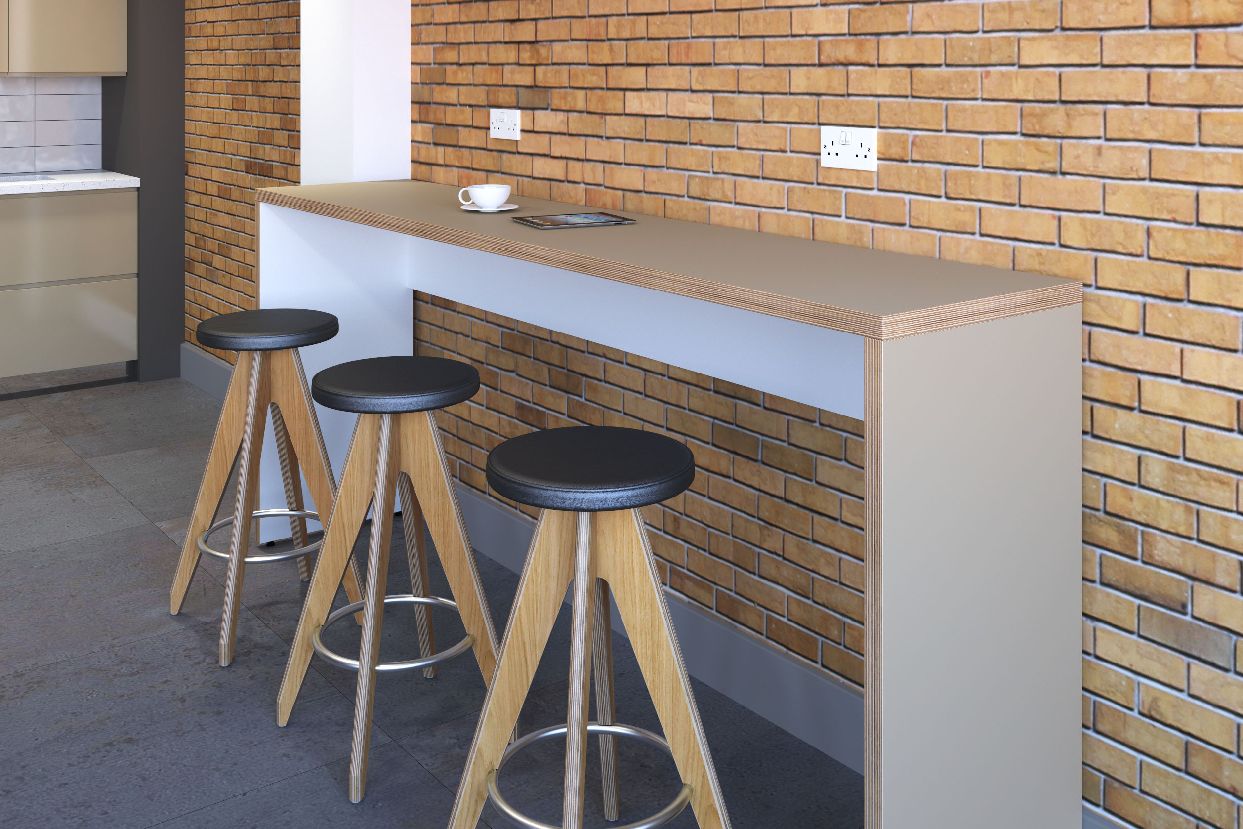 HiTable Posuer Height Table with Stools
