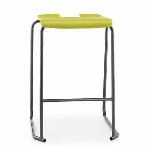 Hille-SE-Ergonomic-Backless-Stool-with-Foot-Bar-Green