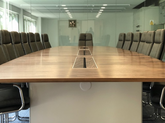 Veneer Boardroom Table Close Up