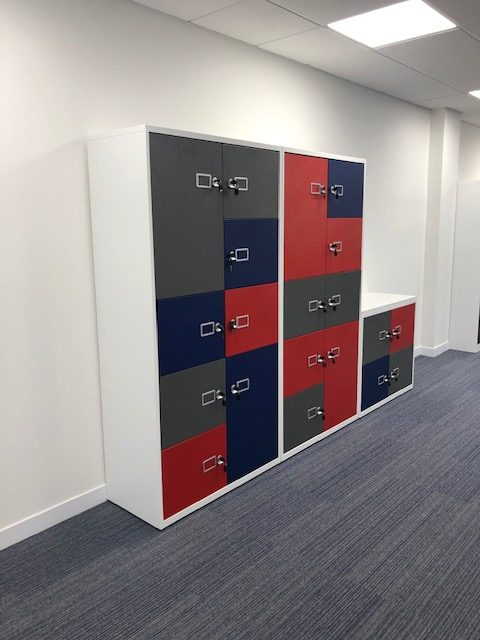 Coloured Steel Lockers