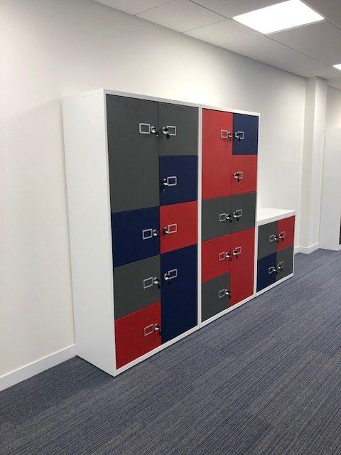 Coloured Steel Lockers