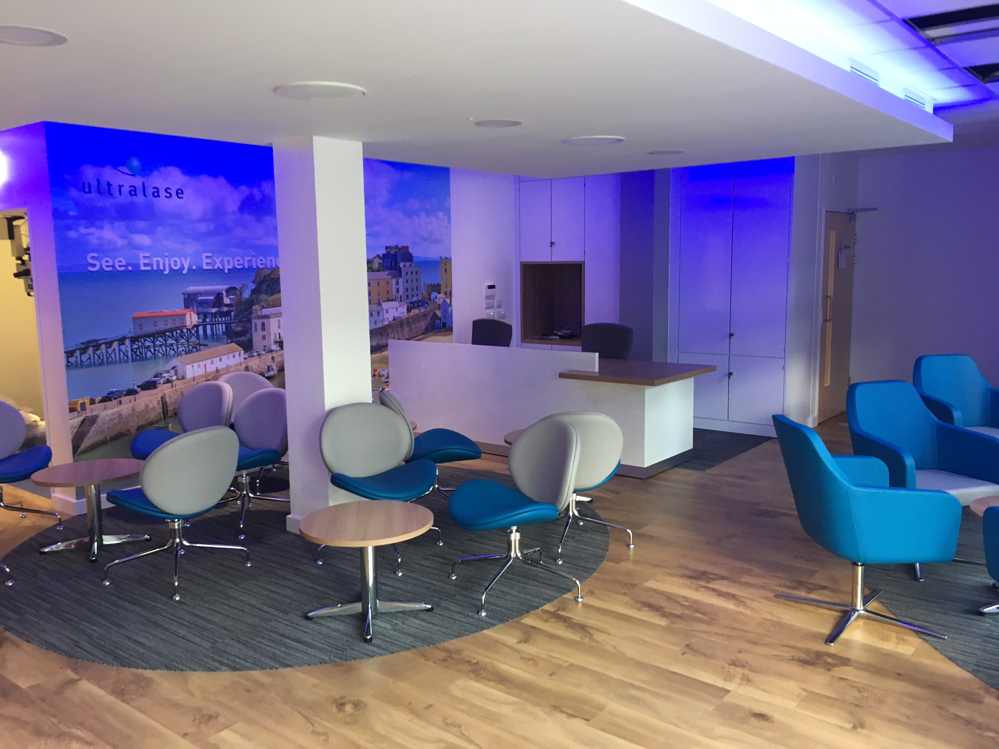 Optimax Cardiff Reception Area