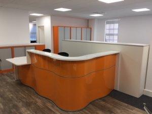 Reception Desk with Bespoke Surround