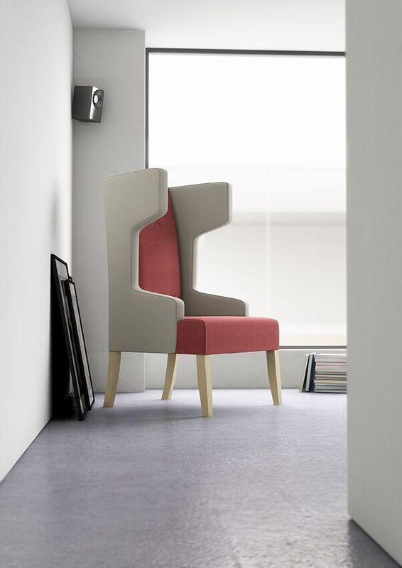 Izzey-High-Back-Winged-Reading-Chair-Two-Tone-Grey-and-Salmon-In-Situ