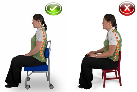 Jollyback Teachers Chair Ergonomic Seating Postion