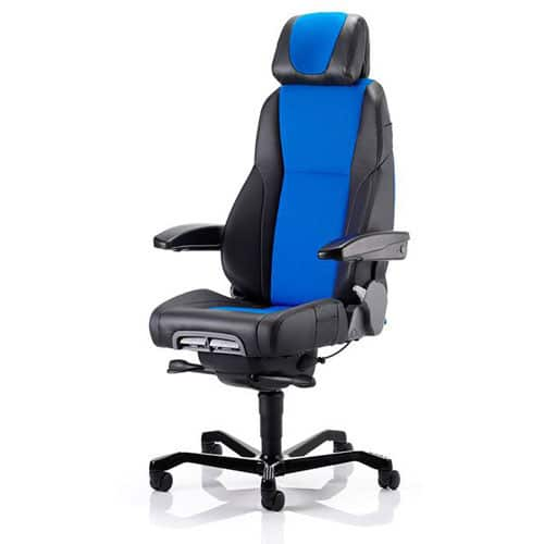 KAB-K4-24hr-Ergonomic-Office-Chair-Half-Leather