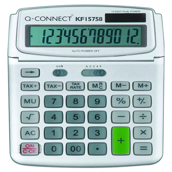 KF15758 Q-Connect 12 Digit Display Calculator