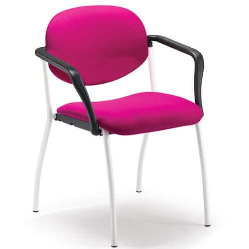 Kempton Pink Upholstered Meeting Chair with Arms