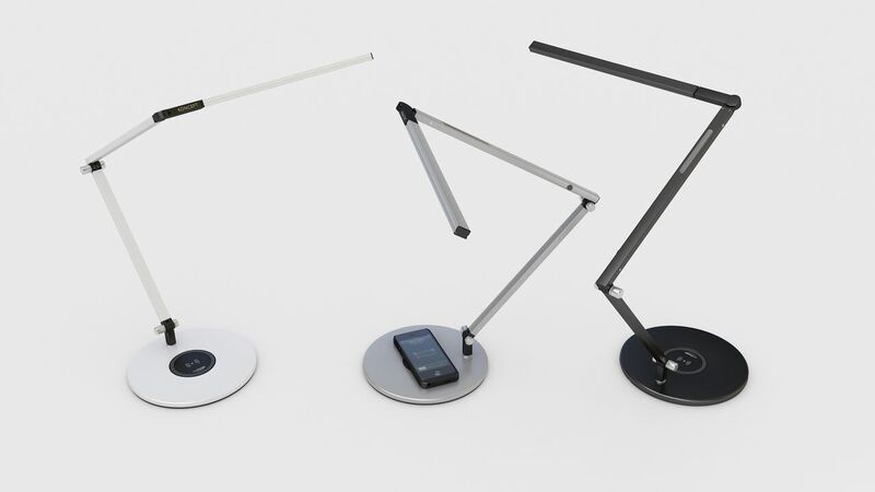 LED Desk Lamp with Wireless Chargin Base White Grey Black