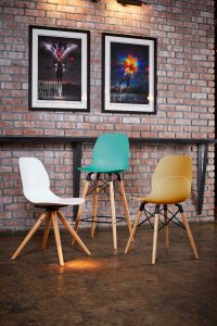 LG4 Wooden Frame Stool and Chairs
