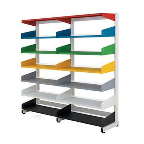 Library-Shelving-Unit-With-Coloured-Shelves