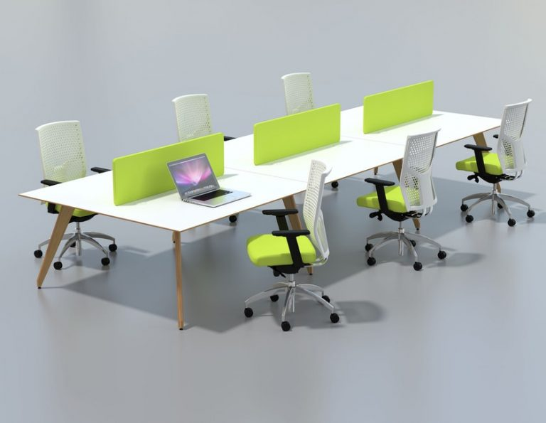 Ligni Bench Desk with Desk Dividers