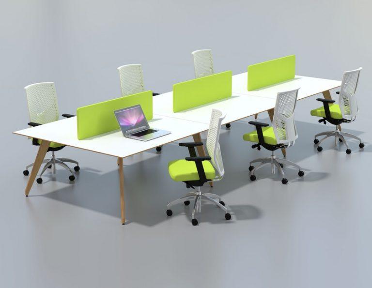 Ligni Bench Desk with Desk Dividers