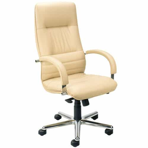 Linea-Cream-Leather-Traditional-Executive-Office-Chair