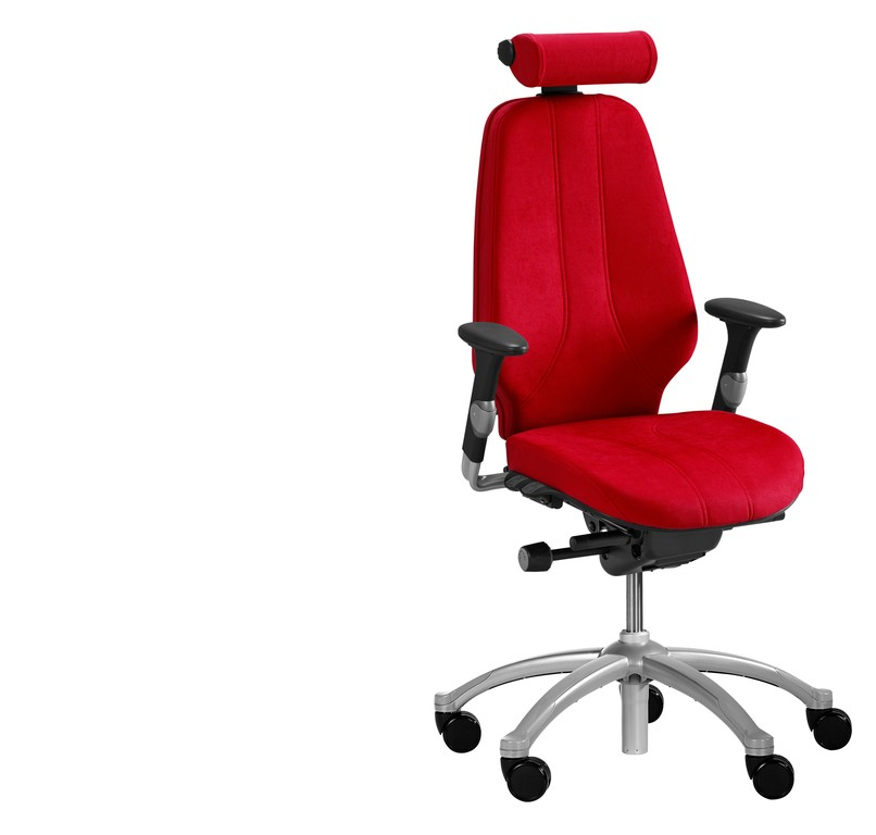 RH Logic 400 Chair WIth Headrest Red