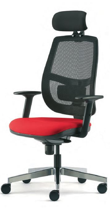 Lunar Mesh Back Task Chair with Headrest