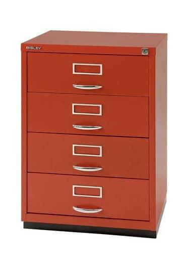 Bisley-Media-Storage-Drawers-Orange