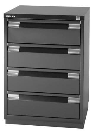 Bisley Media Drawers Black