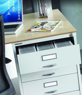 Bisley-Steel-Media-Storage-Pedestal-Drawers-In-Situ