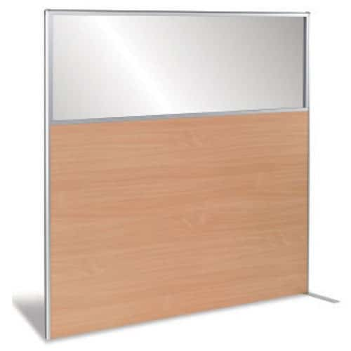 MFC-Floorstanding-Office-Partition-with-Glazed-Top-Panel