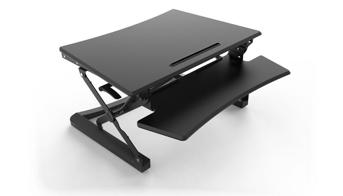 Sit Stand Desktop Riser Black