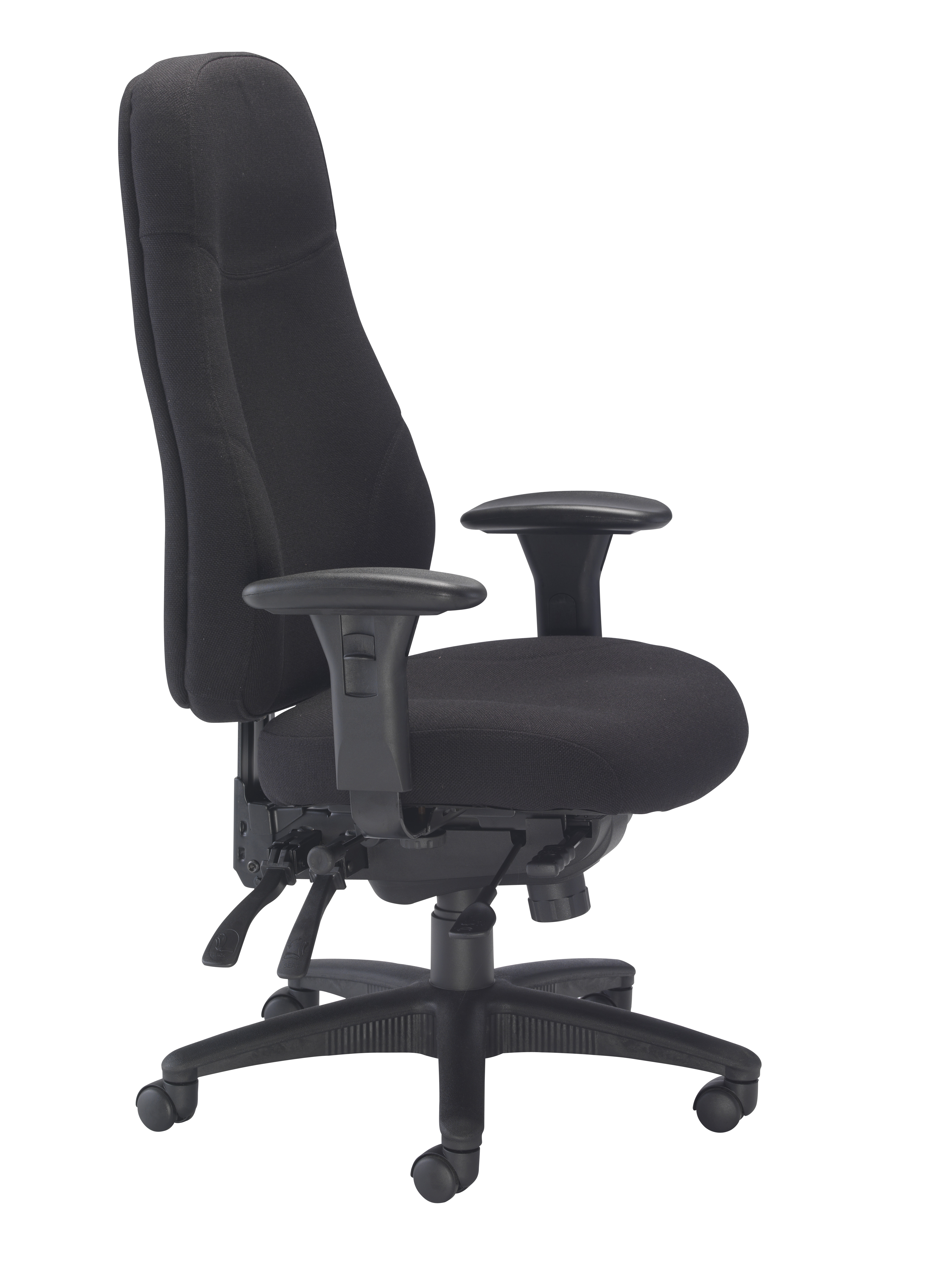 Managers Task Chair Black Side View