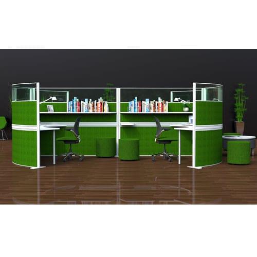 Marathon-Green-Freestanding-Office-Screens-Example-Set-Up