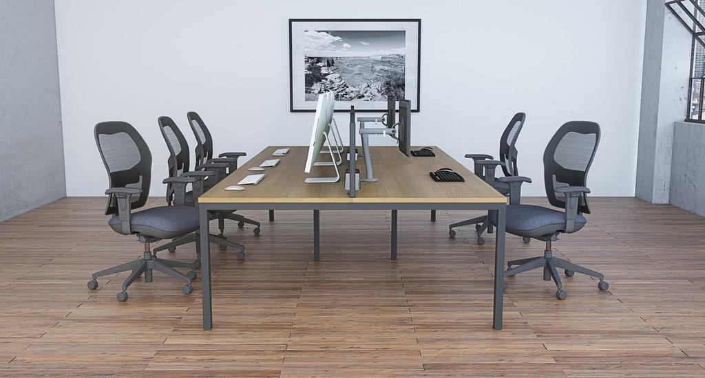 Mesa-Bench-Desks-Rectangular-Top-Desk-Back-To-Back-In-Office-Environment