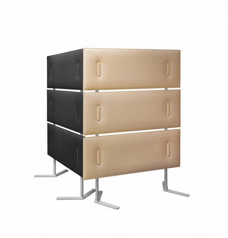 Mitesco Sound Absorbing Dividers Black and Beige