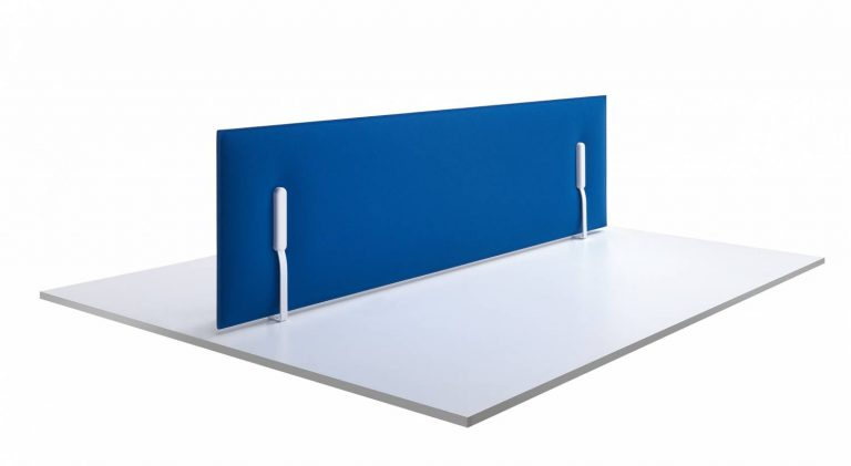 Mitesco Worktop Acoustic Desk Divider Full Width